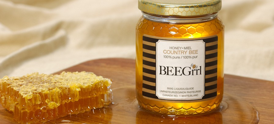 Unpasteurized honey from Toronto's BEEGrrl