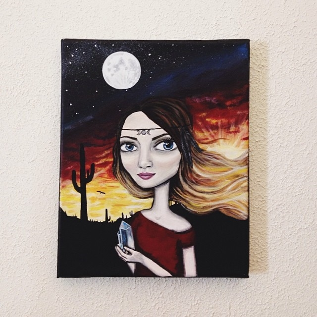 I received this beautiful painting of myself yesterday. So fitting for the Blood Moon - remember who I am. Love and embrace my light and dark. Thank you  Rachael Treetalker  for your beautiful talent.