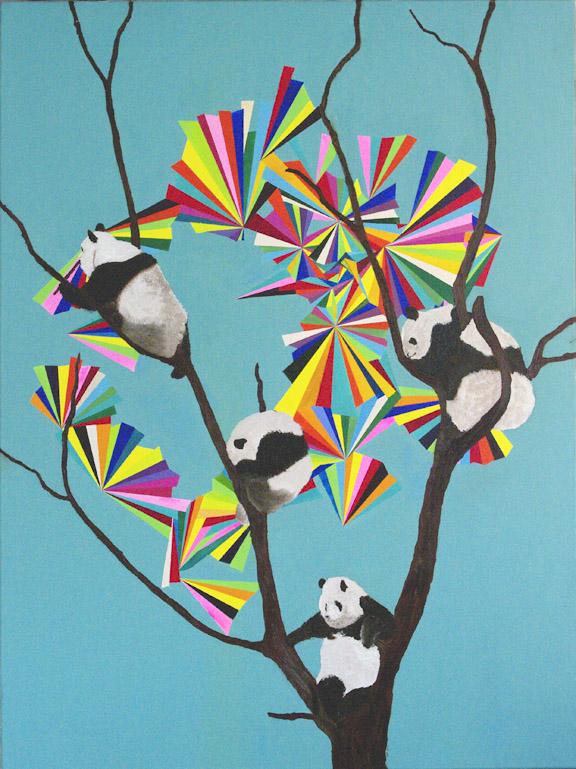 Five Pandas In A Tree