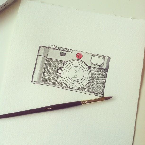 More camera. #leica #m9 #sketch #watercolor #art