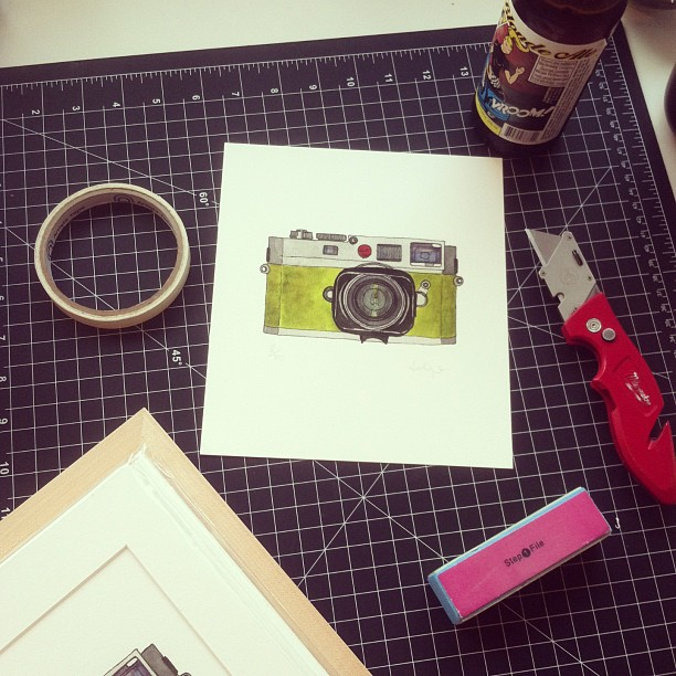 Evening work. #art #process #giclee #leica #prints (at Studio &)