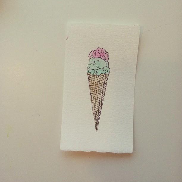 I've Still Got You Ice Cream. #watercolor #art #icecream (at Studio &)
