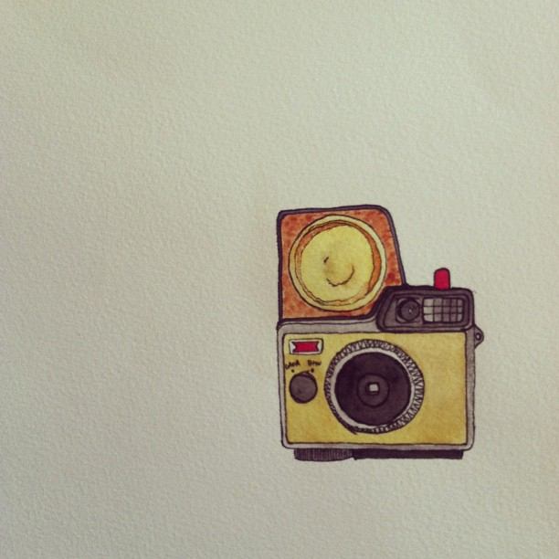 Working on a new camera - Ansco Cadet II. #watercolor #art #camera