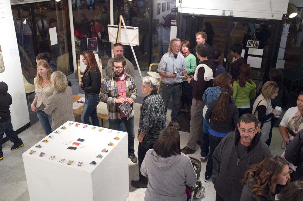 The crowd. Definitely busier than Durango gallery walks.