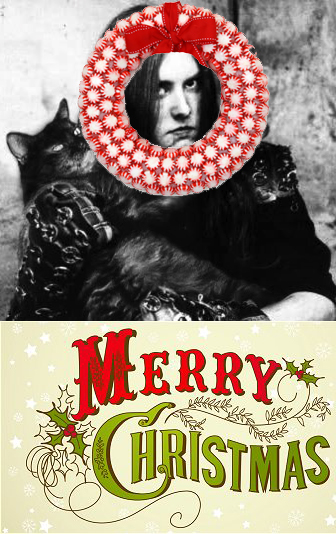 Varg hates Christmas, but he loves his cat.