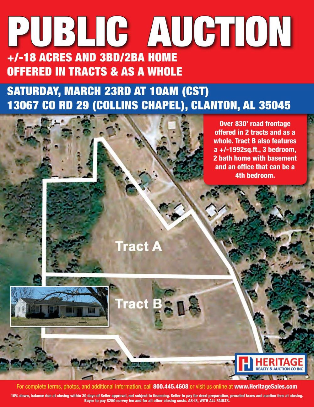 3BD/2BA Home on 18+/- Acres