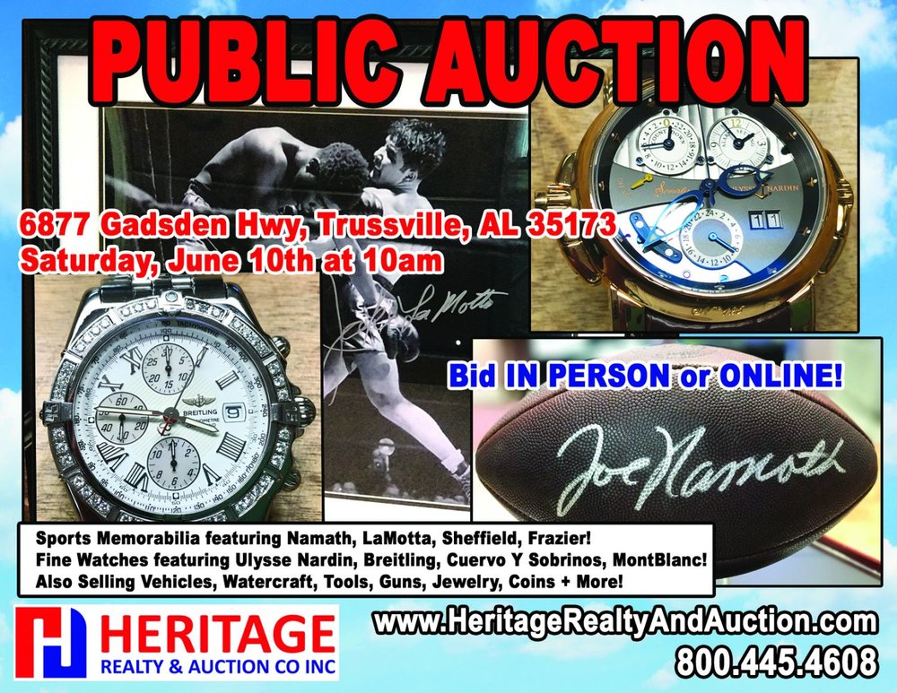 Sports Memorabilia, Fine Watches