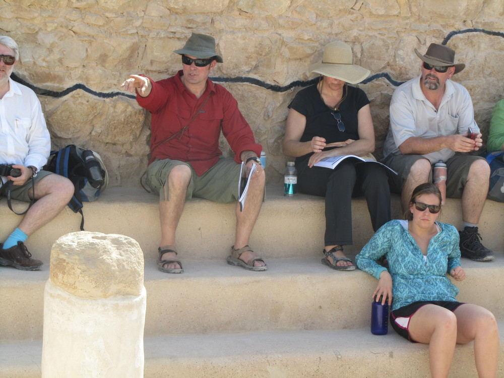 Bob teaching in the 1st centrury synagogue on Masada