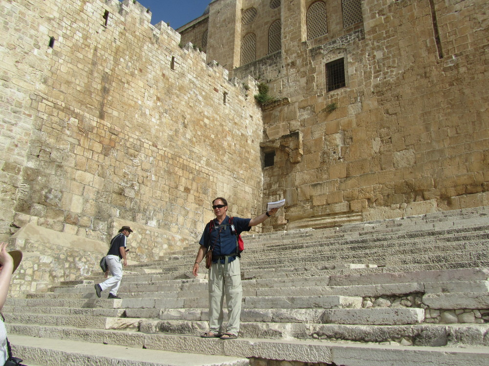 Bob on the Southern Temple steps in Jerusalem