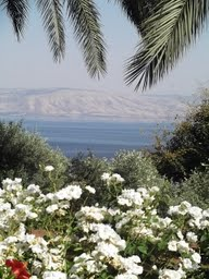 The Sea of Galilee from the Mount of Beatitudes