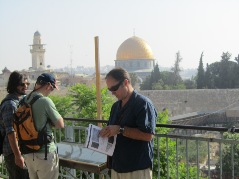 Bob teaching at the Temple Mount in Jerusalem