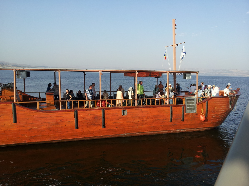 Taking a sail on the Sea of Galilee
