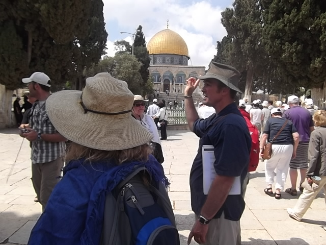 Bob teaching on the Temple Mount