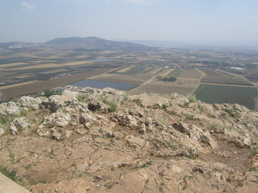 The Jezreel Valley from Mount Precepice, traditional location for the place where the people of Nazareth tried to throw Jesus off a cliff