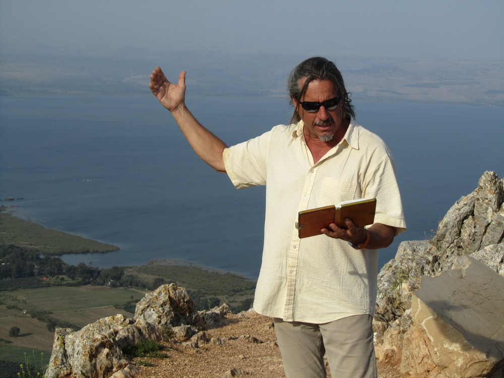 Art Barrett expounds on Luke 6 with the Sea of Galilee as his backdrop