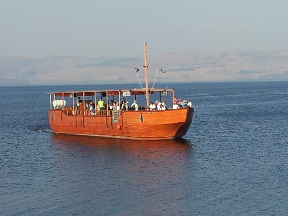 We enjoyed a sail on the beautiful waters of the Sea of Galilee
