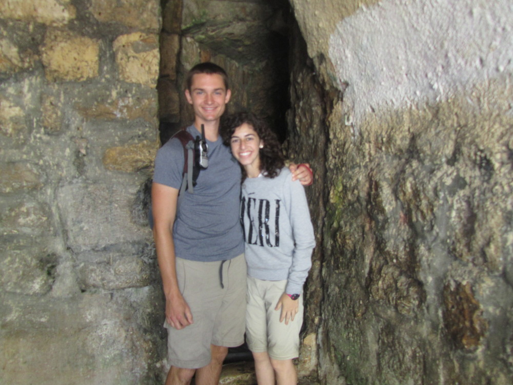 Luke and Taylor emerging from Hezekiah's Tunnel!