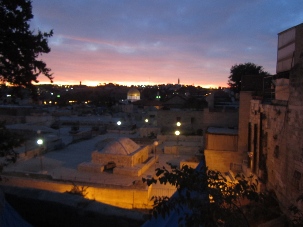 Sunrise over the Old City of Jerusalem