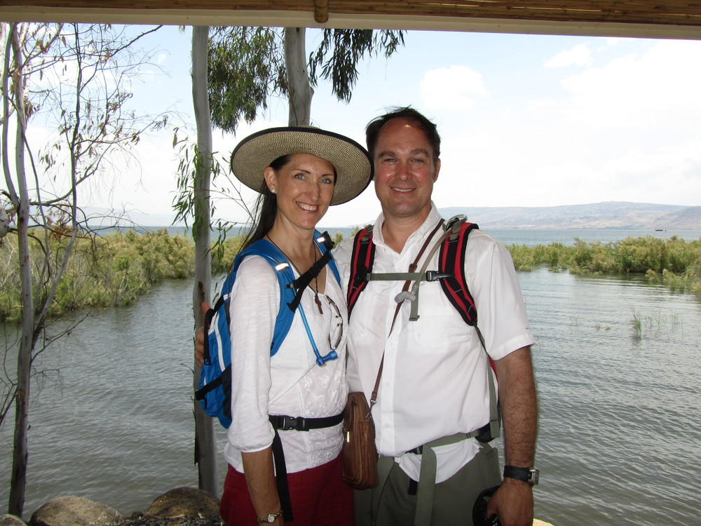 Bob and Pam at the Sea of Galilee