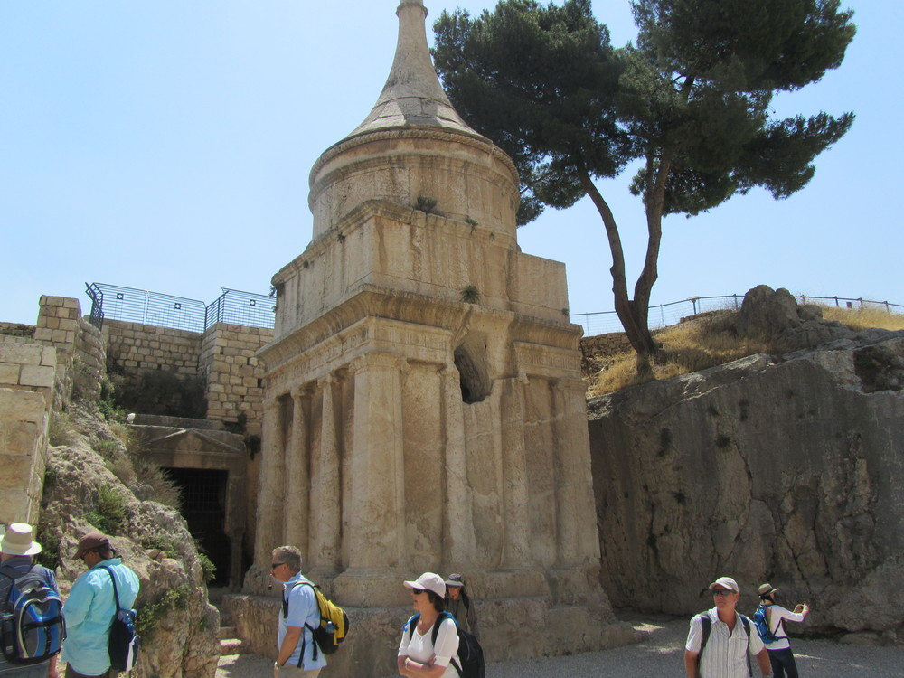 Walking through the Kidron Valley next to Absolom's Pillar