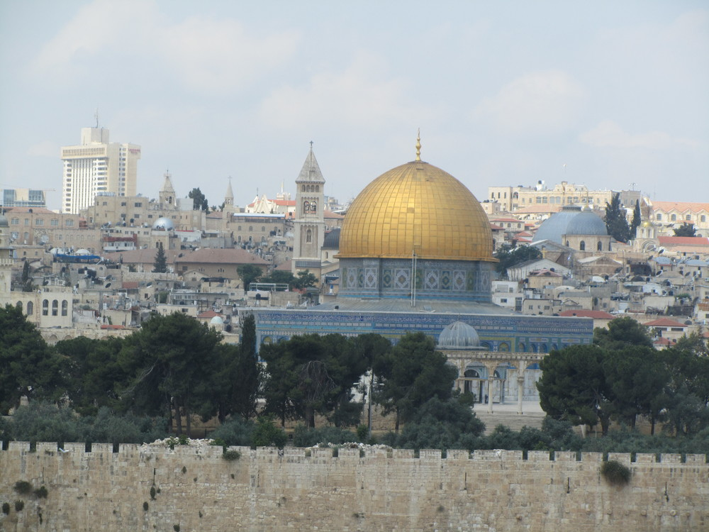 The Dome of the Rock as seen from the Mount of Olives