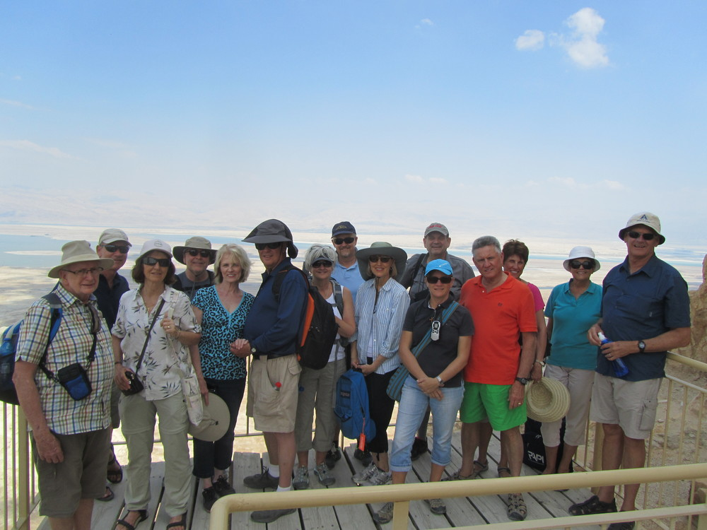 Our Group on Masada at the Lower Palace of Herod the Great