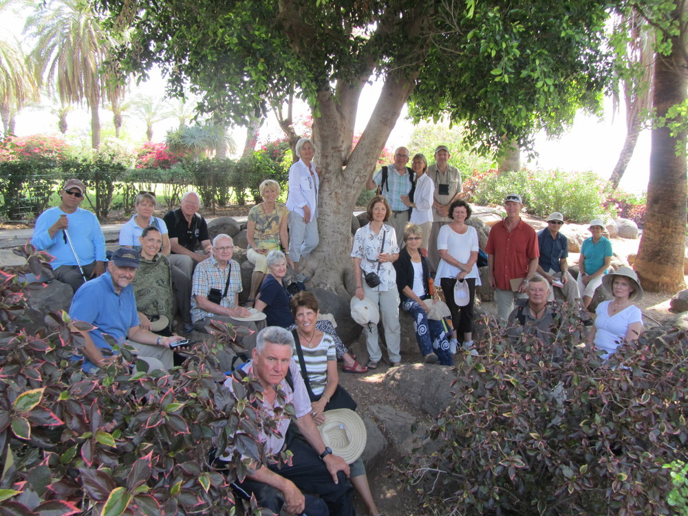Our Group Reflecting on the Mount of Beatitudes