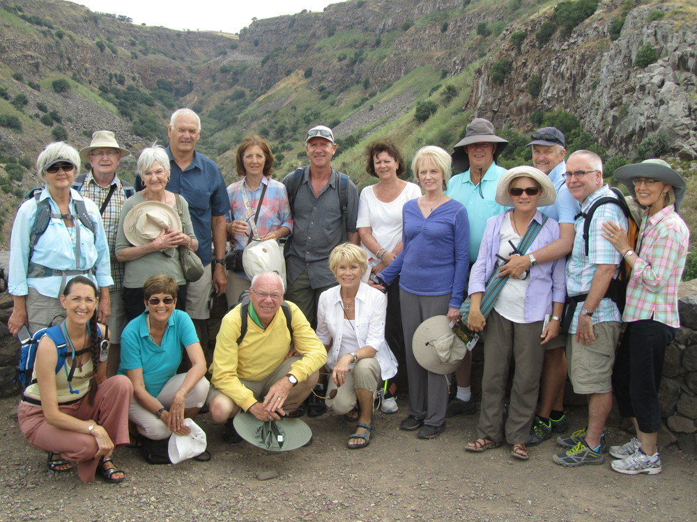 Our Group on top of the Ancient Defensive Tower of Gamla