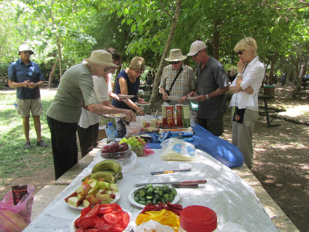 A Delicious Lunch Spread in Caesarea Philippi