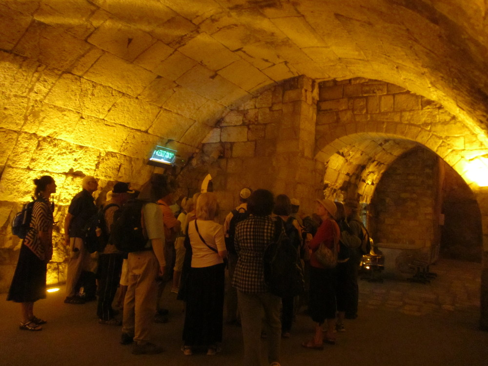 Exploring the Tunnels Along the Western Wall of the Temple Mount