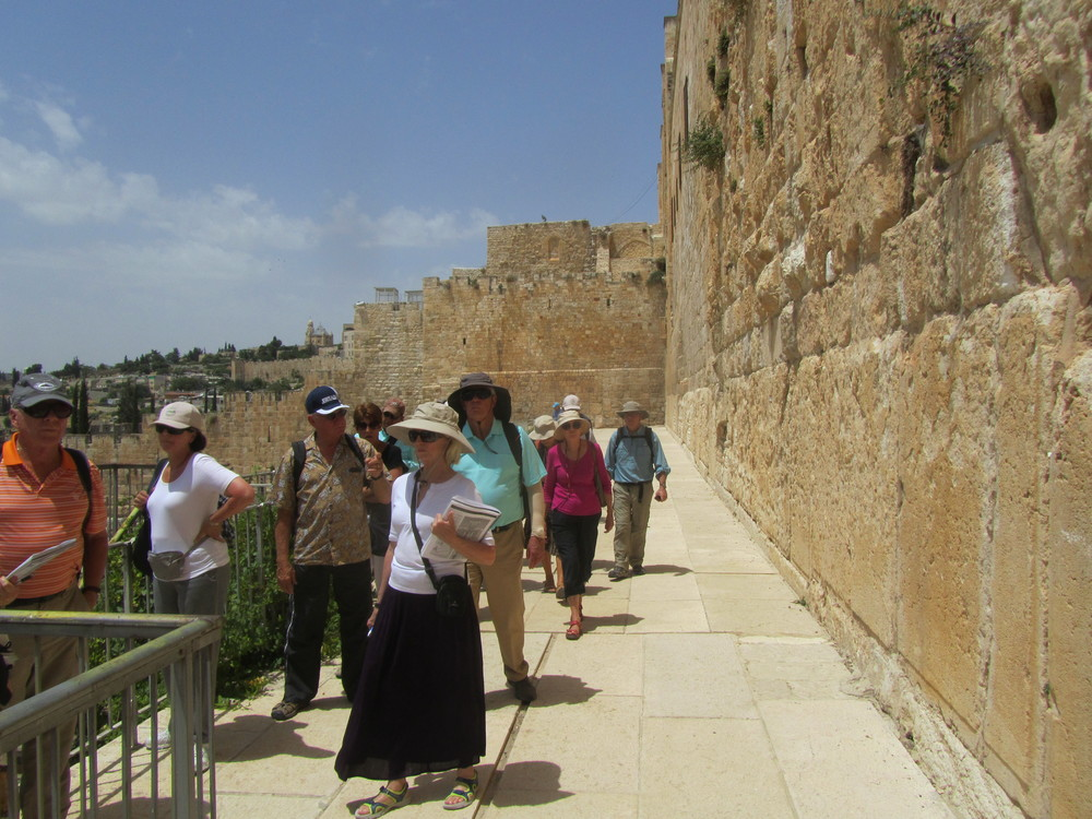 Checking Out the Southern End of the Temple Mount