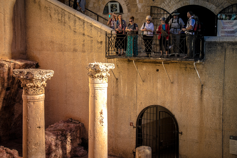 We investigated the remains of an ancient shop-lined street called the Cardo, stretching from the Jewish Quarter in the south to Damascus Gate in the north.