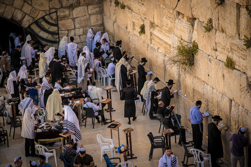 As we went up onto the heavily restricted Temple Mount, we were able to observe Orthodox Jews praying and studying at the Western Wall, the closest thing they have to the long-destroyed Temple.