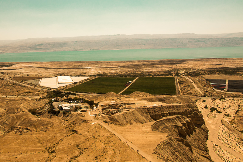 Here, you can see Qumran in its regional setting near the Dead Sea.