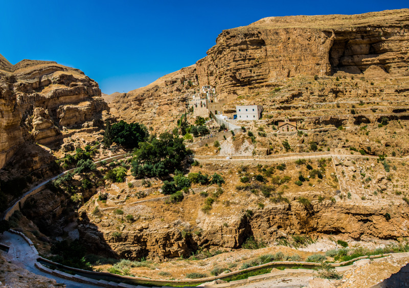 For over 1500 years the monks of St. George's have retreated to this place of solitude and significance to seek God and engage in the same kind of spiritual warfare which Jesus carried out in this very valley.