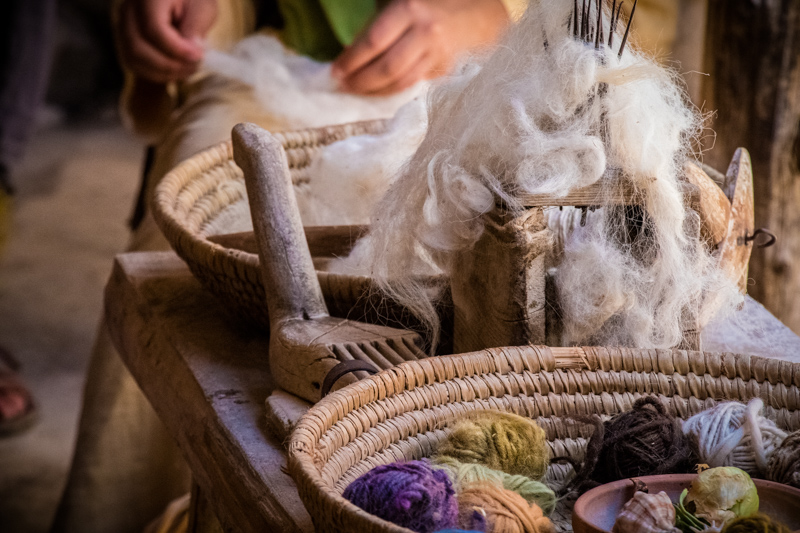 At Nazareth Village they do everything in the method of the first century, including farming, raising livestock, woodwork, winemaking, and even weaving!