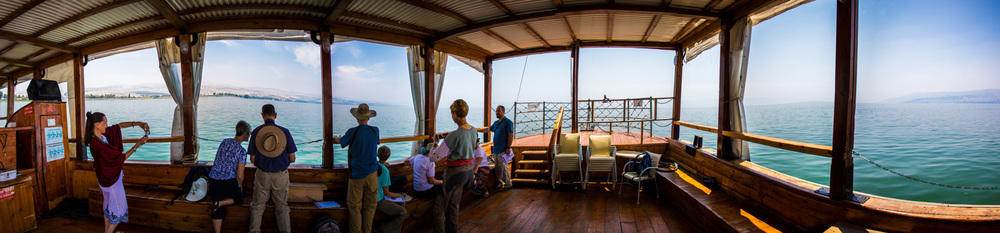 From the boat we could see nearly all of the places where Jesus ministered around the north end of the Sea of Galilee.