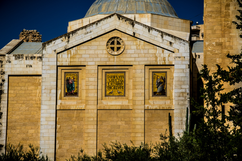 In Bethany we visited the beautiful little church built next to the tomb of Lazarus. Visiting Bethany has become much more difficult since the Israeli government has built a separation wall which now runs between this village and Jerusalem.