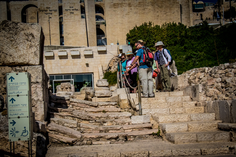 Examining the first century stepped streets that led down to the Temple Mount.