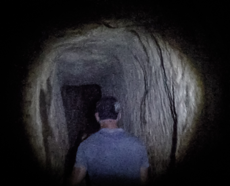 Walking through Hezekiah's Tunnel is not for the claustrophobic or the faint of heart!