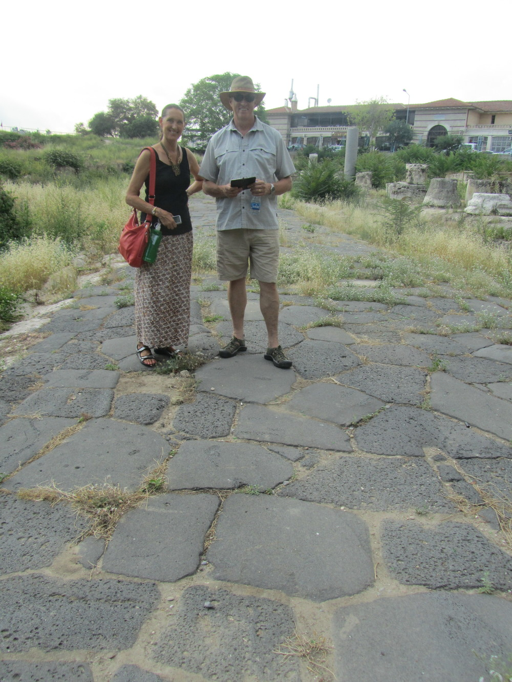 The ancient basalt street in Tarsus