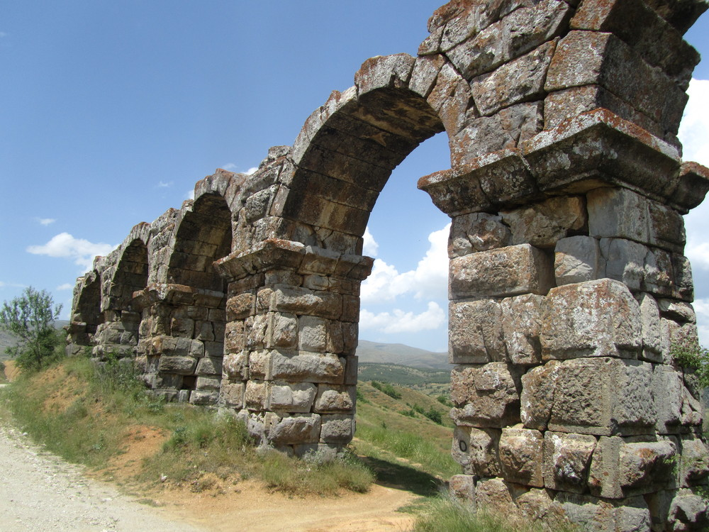 The Roman aqueduct outside of Pisidan Antioch