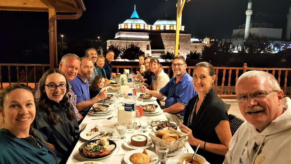 Dinner in Konya, Turkey, the site of ancient Iconium