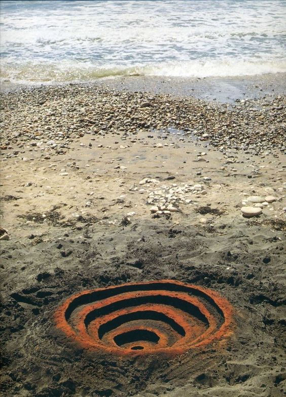 Rusted Sand Beach, Andy Goldsworthy