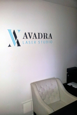Avadra Laser Studio - A logo design for small business in high end industry