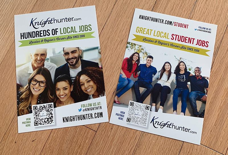 Postcards for local business Knighthunter.com