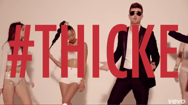 #Thicke. Get it? It's a boast, and HIS NAME! Lol.