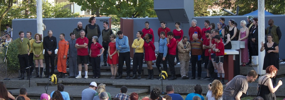 Trek in the Park curtain call & announcements