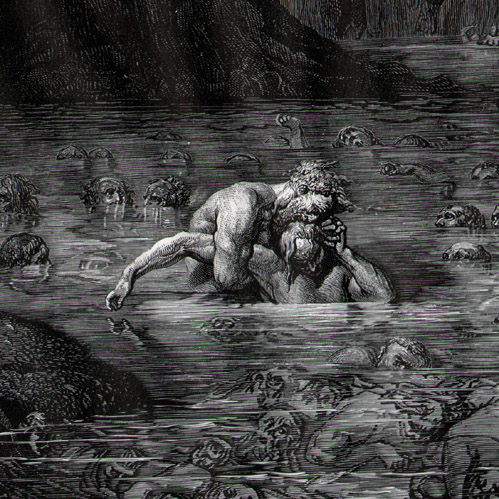 "Detail of ""Ugoilno and Archbishop Ruggieri"" by Gustave Doré (yes, I have this book)."