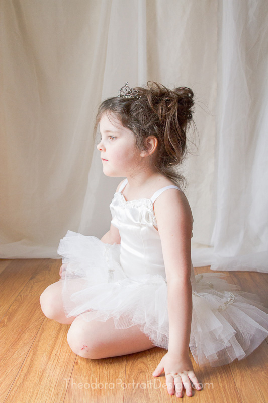 girl's ballerina portrait by Theodora Portrait Design